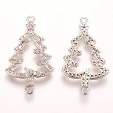 cirkonia karácsonyfa távtartó platinum