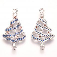 cirkonia kék köves karácsonyfa távtartó platinum