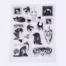 szilikon cicás bélyegzőkészlet