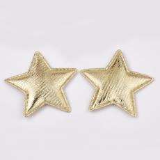 arany szövet csillag dekoráció