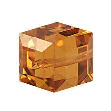5601 kocka gyöngy 6 mm: topaz