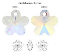 6744 virág függő crystal AB