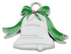 fehér karácsonyi csengő medál