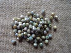 3 mm csiszolt telt fehér kék-barna travertin 50 db