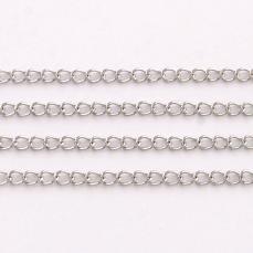 platinum színű rozsdamentes acél szemes lánc 1 m /4