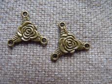 3 ágú medál alap antik réz rózsás
