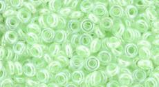 Demi Round 8/0: menta festett közepű kristály 5 g