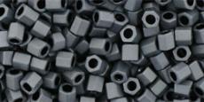 Toho 8/0 hexagon matt telt szürke 10 g