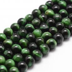 festett zöld tigrisszem 6 mm