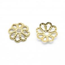gyöngykupak: 6 mm filigrán arany színű 20 db