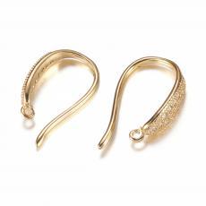 cirkonia beakasztós fülbevaló alap 1 pár arany színű