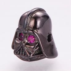 cirkonia Darth Vader köztes 1 db fekete-fukszia