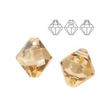 6 mm bicone függő crystal golden shadow