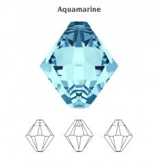 6 mm bicone függő aquamarine