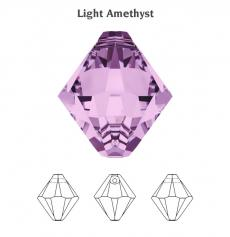 8 mm bicone függő light amethyst