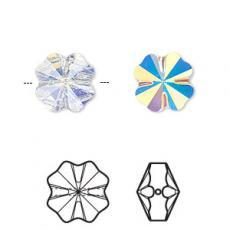 5752 négylevelű lóhere gyöngy 8 mm crystal AB