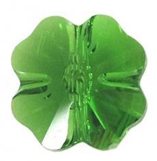 5752 négylevelű lóhere gyöngy 12 mm fern green