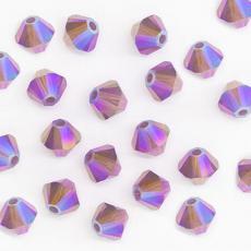 sw bicone 4 mm cyclamen opal shimmer 2x