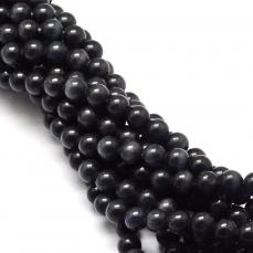 macskaszem gyöngy 8 mm: fekete 10 db