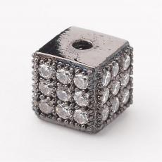 cirkonia fekete-kristály kocka köztes 1 db 5,5 mm