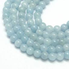 aquamarine-kék jade utánzat 8 mm