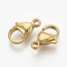 delfinkapocs: arany színű rozsdamentes acél 1 db 11 mm