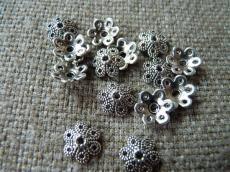 gyöngykupak: antik ezüst 10 db/2