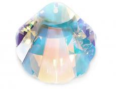 sw 6723 kagyló (seashell) crystal AB 28 mm