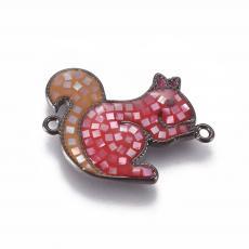 mókus távtartó kagylóberakással piros
