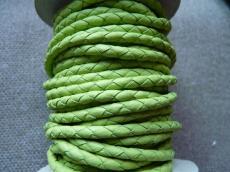 4 mm fonott bőrszál almazöld 1 cm