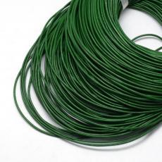 1,5 mm zöld gömbölyített bőrszál