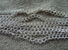 ezüst színű nagyobb szemes lánc 2 m