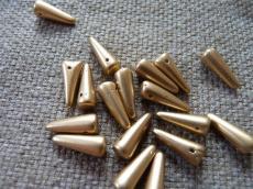 tüskegyöngy metál matt arany 10 db másodosztályú