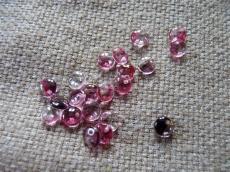 lentils: fukszia-fekete-kristály 20 db