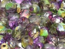 csiszolt gyöngy 6 mm: crystal etched magic orchid 25 db