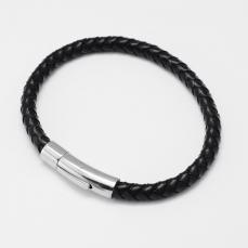 férfi karkötő kerek fonott fekete