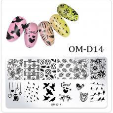 körömnyomda OM-D14: gyümölcsös-madaras