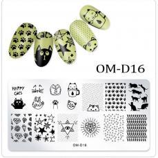 körömnyomda OM-D16: cicás-szimbólumos