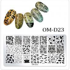 körömnyomda OM-D23: virágos