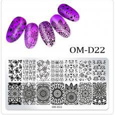 körömnyomda OM-D22: állatok-mandala