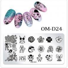 körömnyomda OM-D24: állatok-virágok
