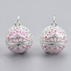 Angyalhívó medál fehér-rózsaszín lótuszvirágos
