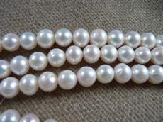 tenyésztett gyöngy kerek fehér 9-10 szál