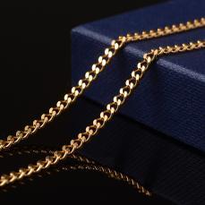 arany színű rozsdamentes acél szemes lánc 1 m