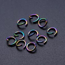 szerelőkarika: szimpla rozsdamentes acél színes 10 db