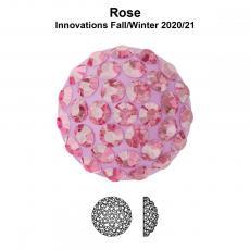 sw pavé ragasztható félgömb 8 mm rose
