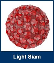 sw pavé ragasztható félgömb 8 mm light siam