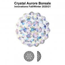 sw pavé ragasztható félgömb 8 mm crystal AB
