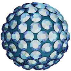 sw pavé félig fúrt gyöngy light sapphire shimmer 6 mm