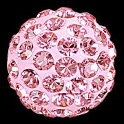 sw pavé félig fúrt gyöngy light rose 6 mm